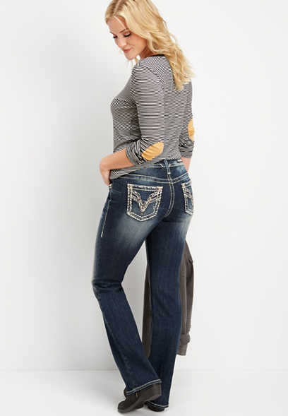 Vigoss® dark wash boot cut jean