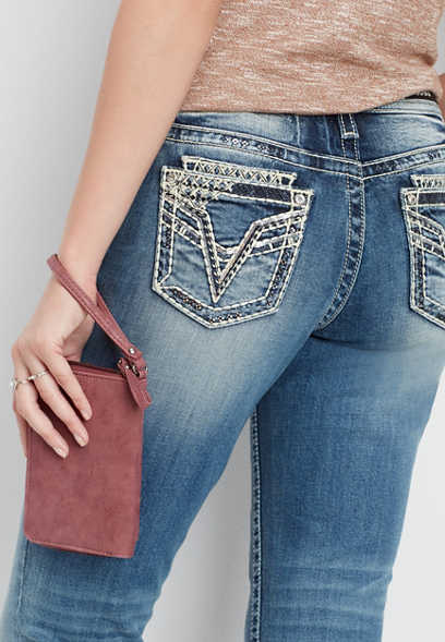 Vigoss® double roll skinny boyfriend jean