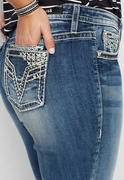 plus size Vigoss® double roll skinny boyfriend jean