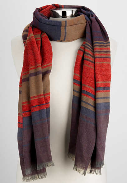 striped onlong scarf