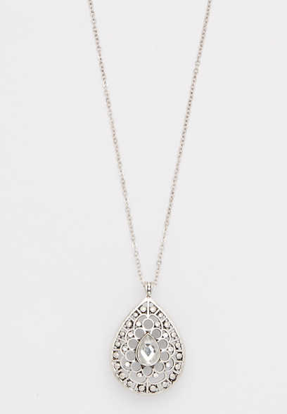 tear drop jeweled necklace