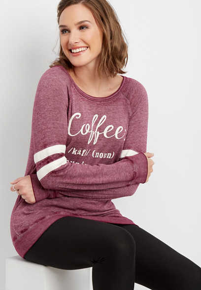 coffee graphic pullover