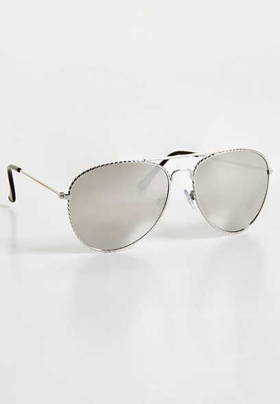 metal detail aviator sunglasses