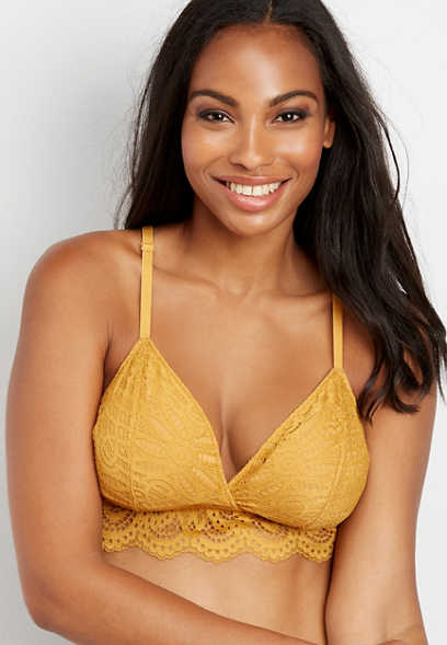 scallop lace v-neck bralette