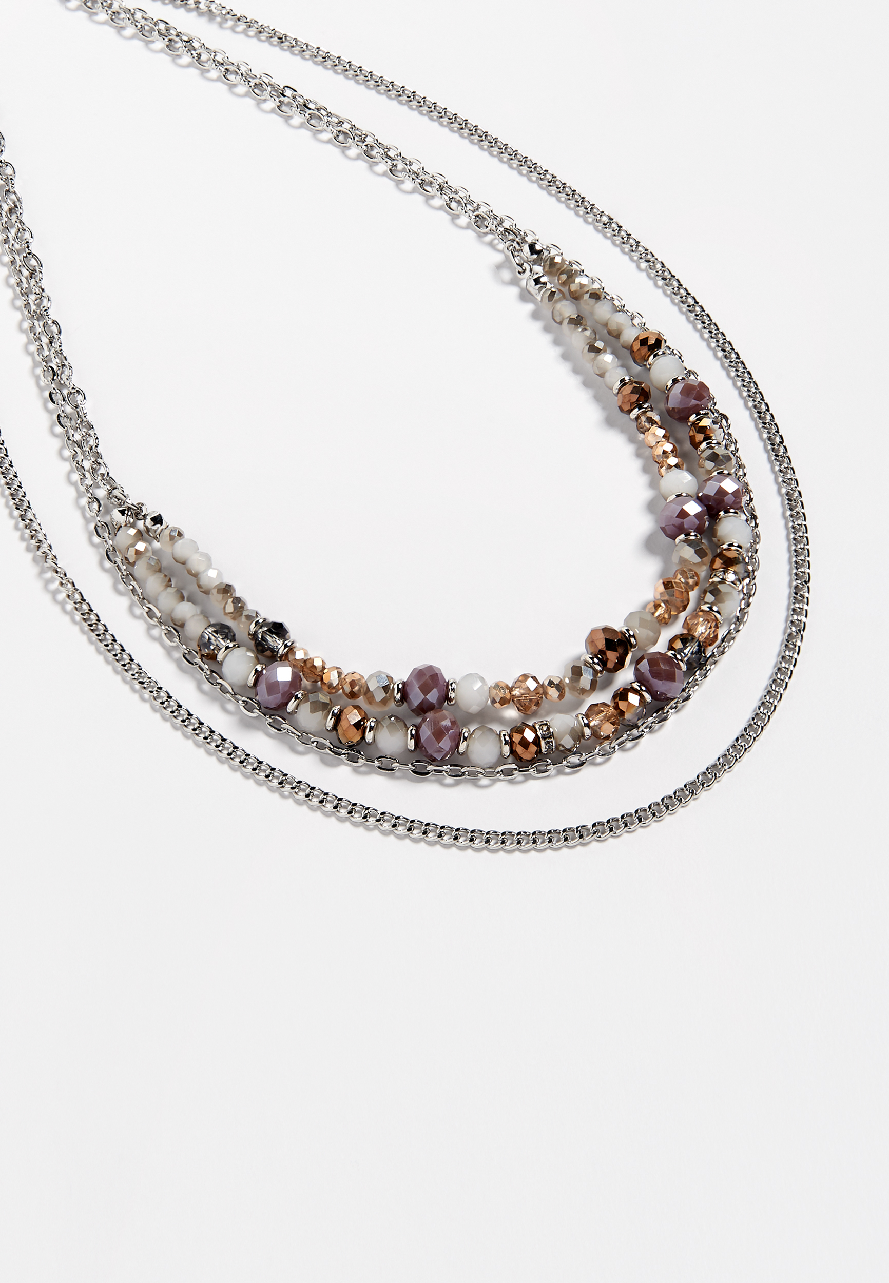 Maurices Berry Tone Layered Drape Necklace