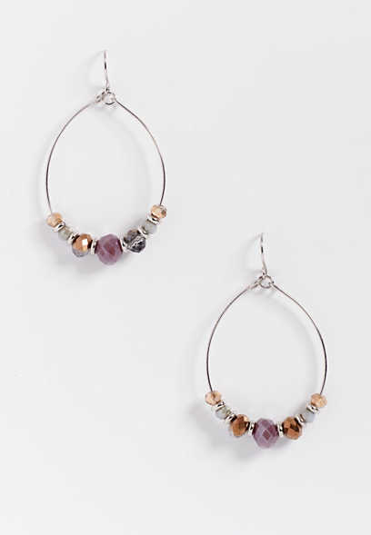 berry tone hoop earring