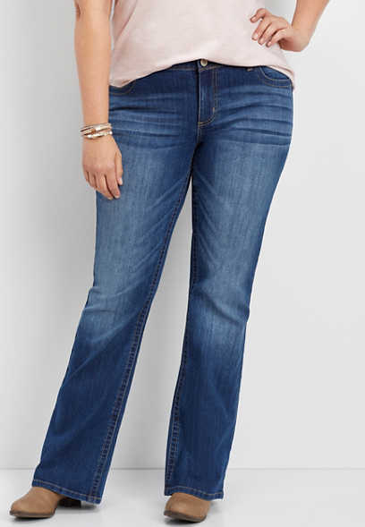plus size DenimFlex™ medium wash bootcut jean