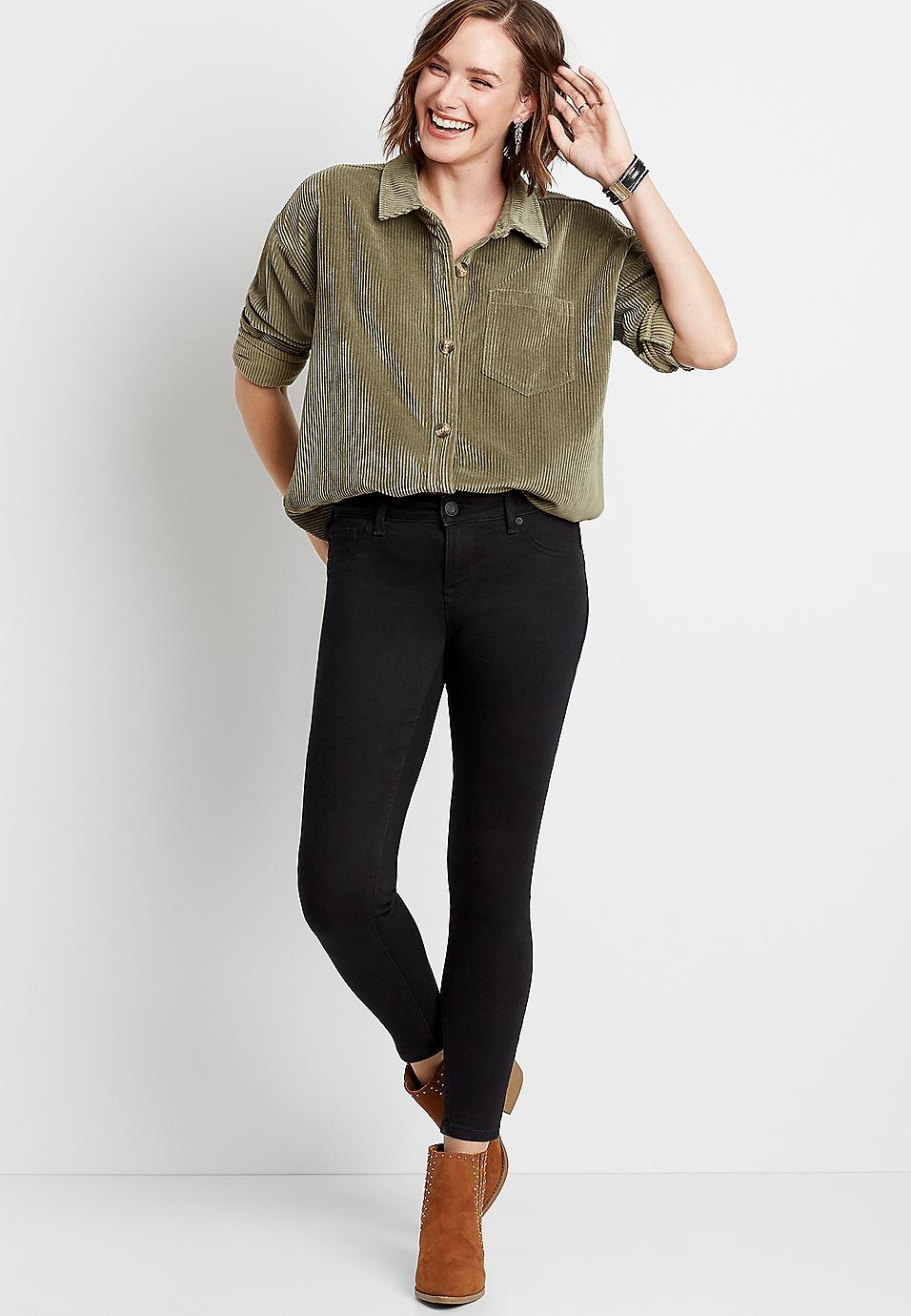 c399cb55e Everflex™ high rise black stretch skinny jeans   maurices
