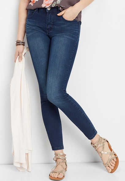 Everflex™ high rise dark stretch skinny jeans