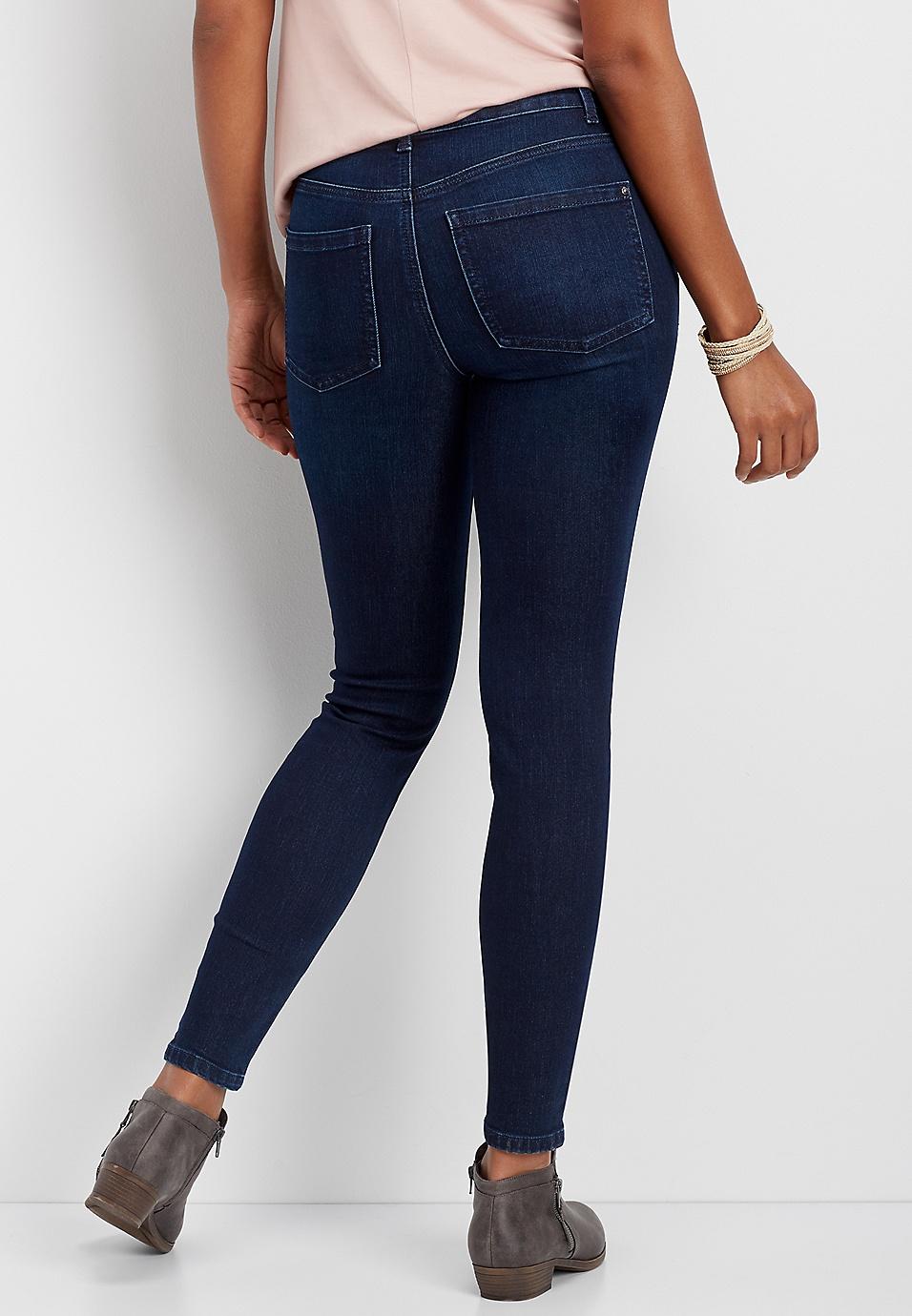 c5f3a1d8e Everflex™ high rise dark stretch skinny jeans   maurices