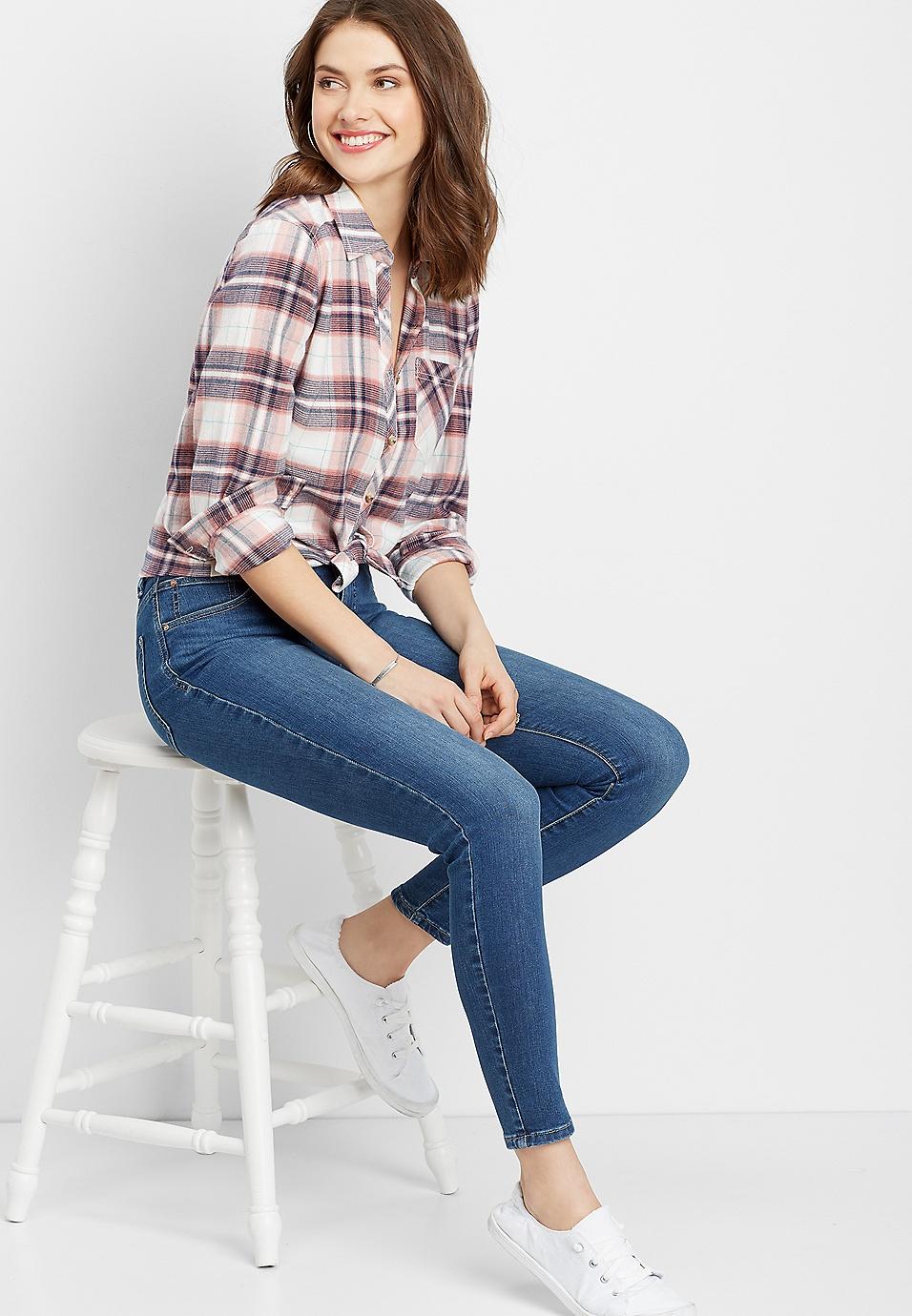 1108f7b9d7 Everflex™ high rise medium stretch skinny jeans