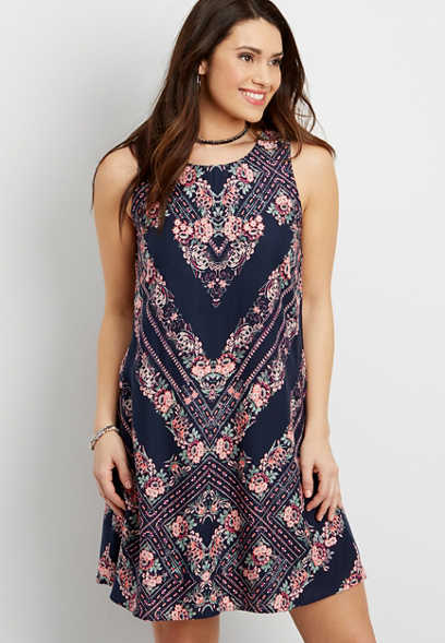 meadow floral tank dress