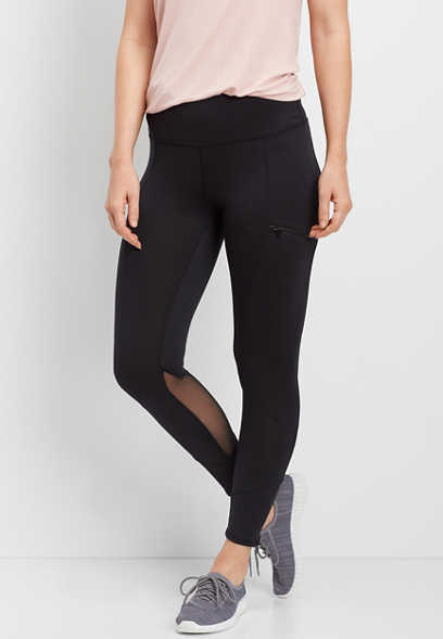 high rise 7/8 pocket active legging