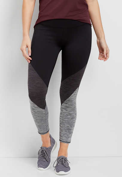 colorblock high rise 7/8 length legging