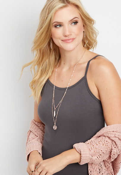 basic solid tunic cami