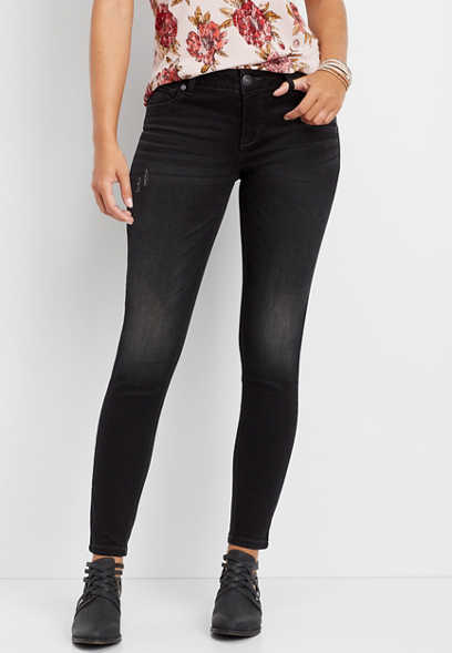 DenimFlex™ washed out black jegging