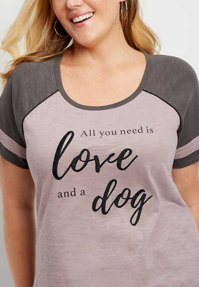 love and a dog graphic tee