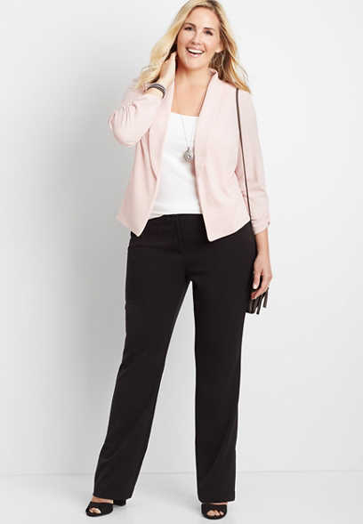 1f3462a48030 plus size black classic trouser