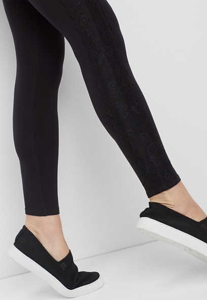 ultra soft lace side legging