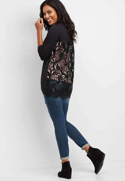 lace back cardigan