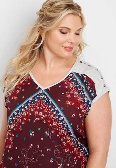 Patterned Plus Size Shirts Blouses Maurices