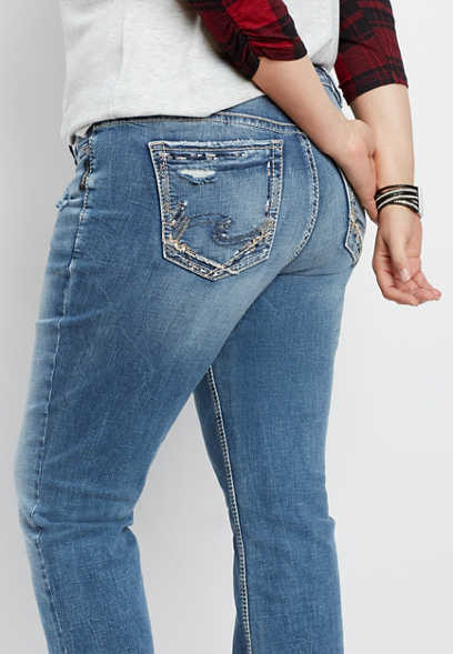 plus size Silver Jeans Co.® Suki slim boot jean