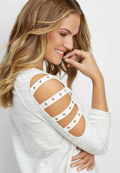 grommet taping open sleeve top