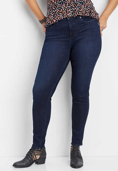 plus size Silver Jeans Co.® Mazy dark wash skinny jean