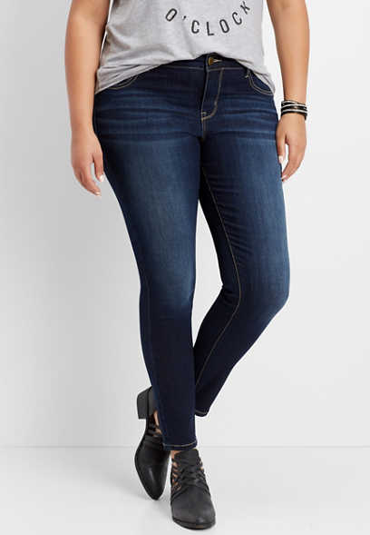plus size DenimFlex™ super dark jegging