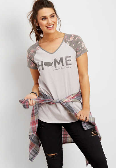 US home floral graphic tee
