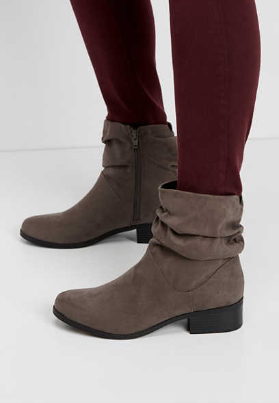 Cassidy scrunch faux suede bootie