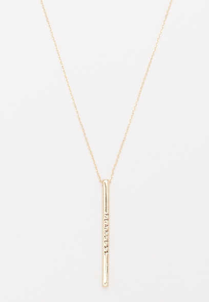 fearless vertical pendant necklace