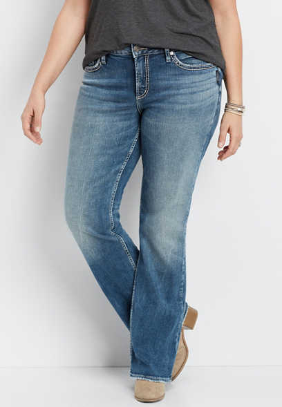 Plus Size Silver Jeans Co.® Suki Medium Wash Slim Boot Jean
