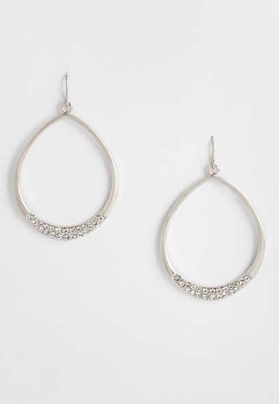 Maurices Silver Large Skinny Hoop Earrings h7ThIEKu