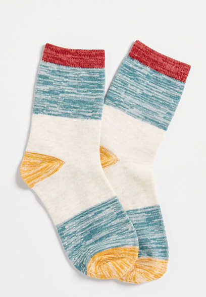colorblock ankle sock