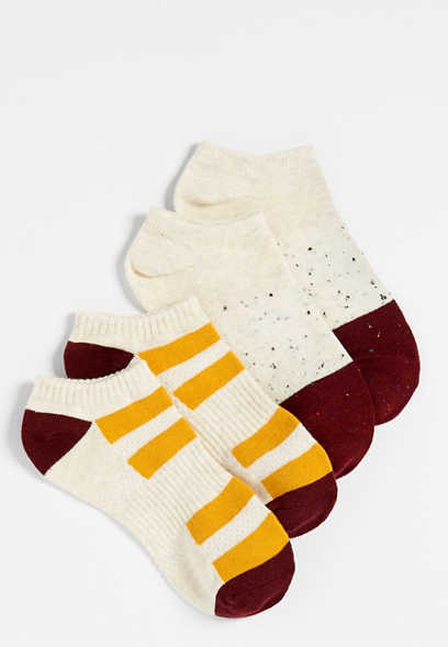 colorblock two pack short ankle sock