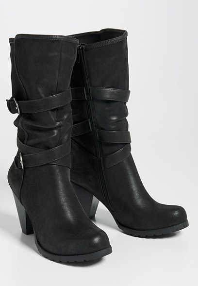 Pam buckle scrunch boot