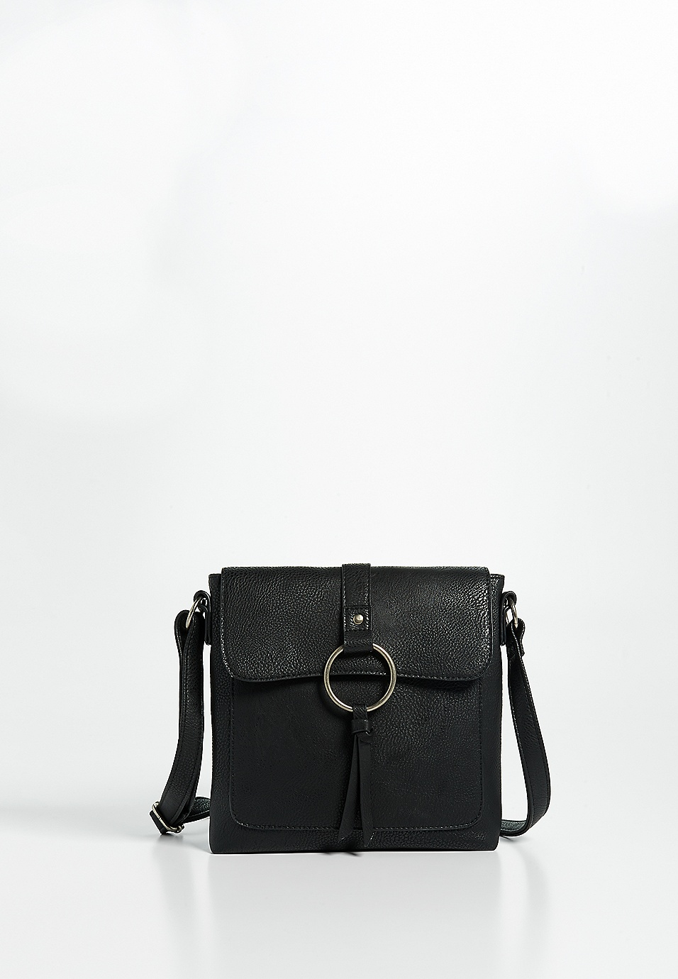 d2d3f8ae27 faux leather o-ring crossbody bag