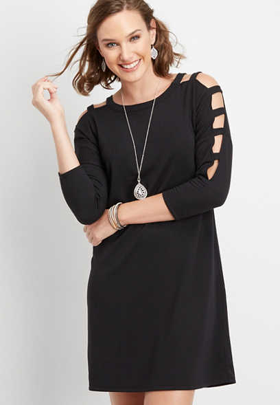 24/7 lattice shoulder dress