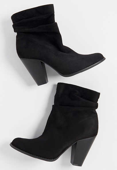 Cynthia ankle scrunch bootie