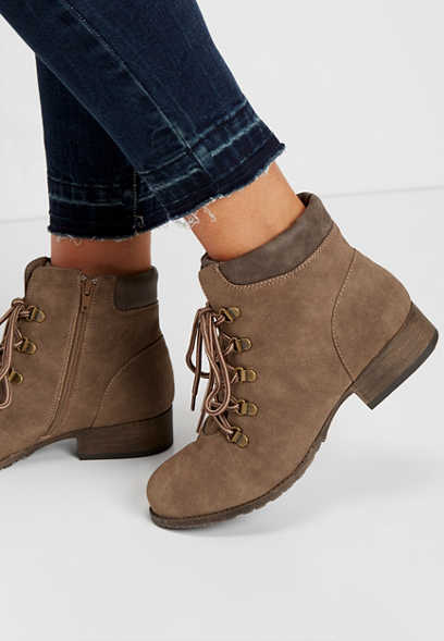 Clara lace up work bootie