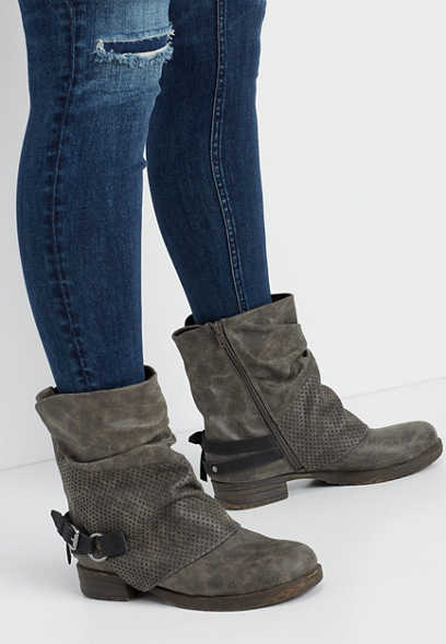 Camille ankle buckle bootie