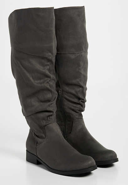 Greta wide calf tall boot