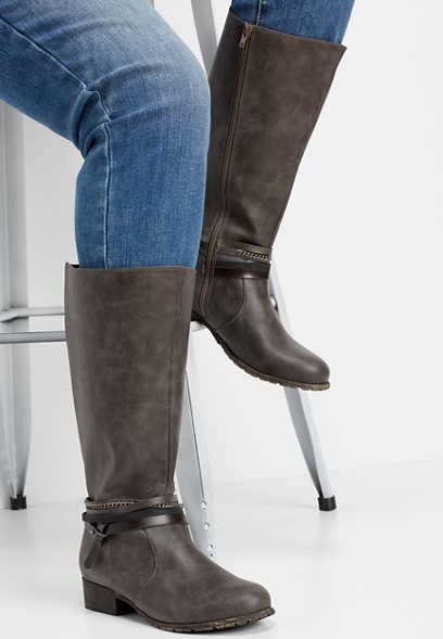 Gail wide calf tall boot