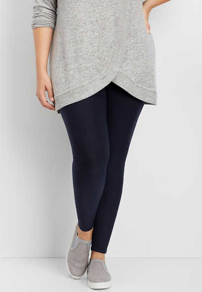 plus size ultra soft navy legging