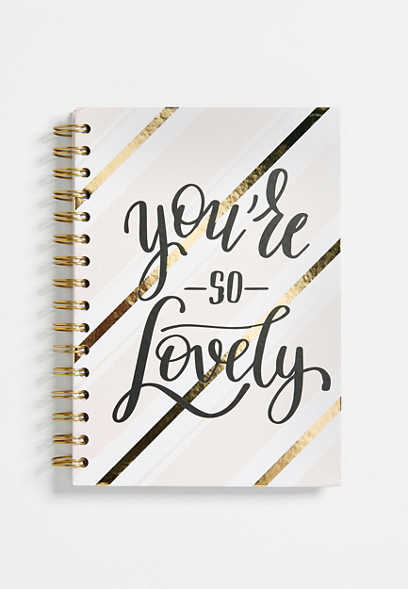you're so lovely spiral notebook
