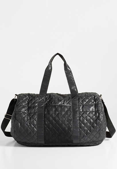 large quilted duffle bag