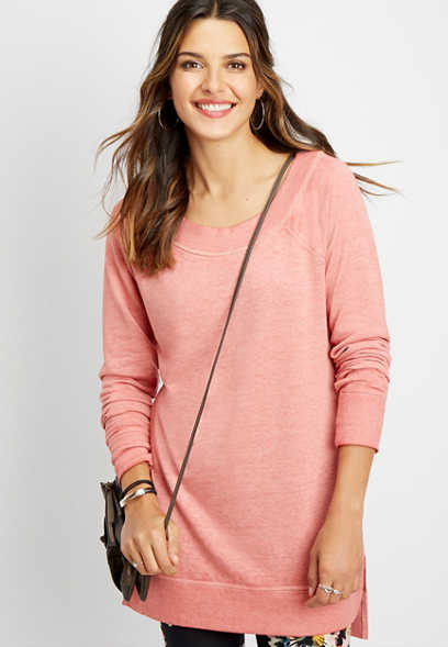 solid marilyn tunic pullover