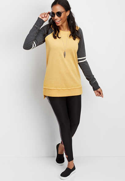 long sleeve tunic football pullover