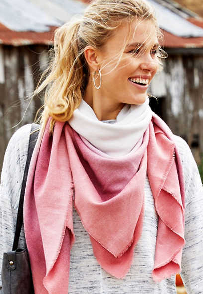 ombre blanket scarf
